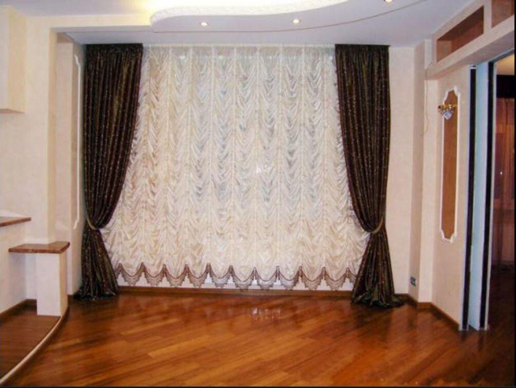шторы для зала фото своими руками