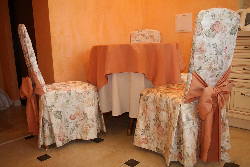 Чехлы на стулья в кухне своими руками 897