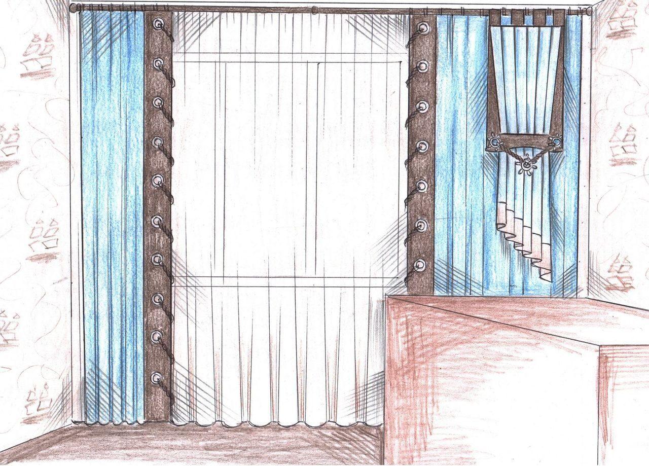 Дизайн кухни шторы занавески эскизы