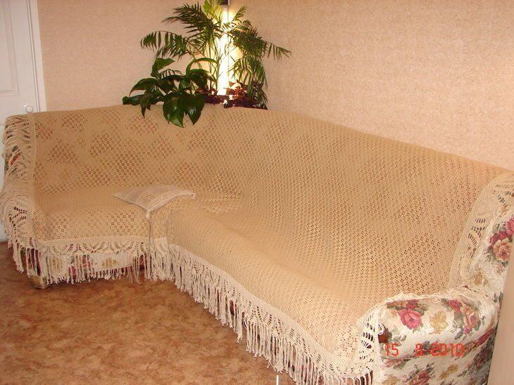 Покрывало на угловую кровать своими руками