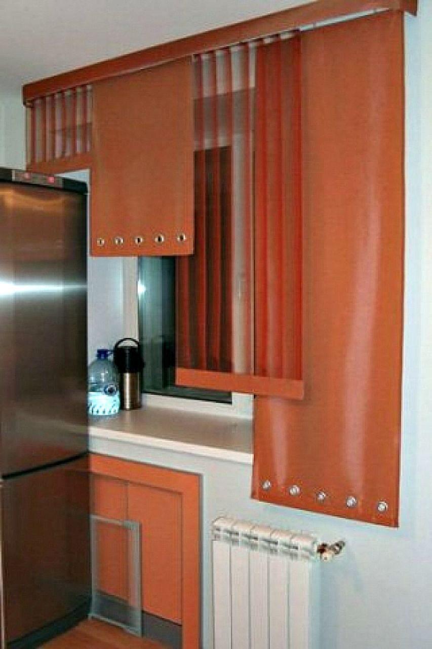 Дизайн японских штор на кухню